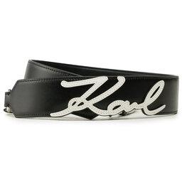 KARL LAGERFELD Змінний ремінь для сумки KARL LAGERFELD 211W3902 Black/White