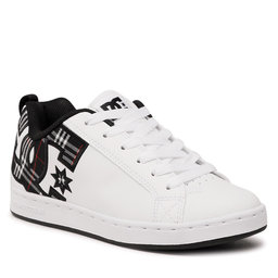 DC Laisvalaikio batai DC Court Graffik 300678 White/Plaid/Black (Ipk)