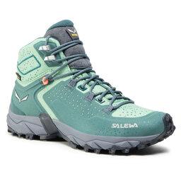 Salewa Трекінгові черевики Salewa Ws Alpenrose 2 Mid Gtx 8540 Atlantic Deep/Feld Green