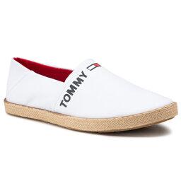 Tommy Jeans Espadrilės Tommy Jeans Logo Espadrille EM0EM00676 White YBR