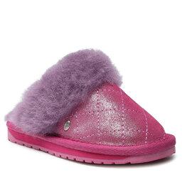 EMU Australia Naminės šlepetės EMU Australia Jolie Metallic Quilt Kids K12621 Deep Pink