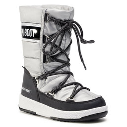 Moon Boot Снігоходи Moon Boot Jr G.Quilted Wp 34051400006 M Silver/Black