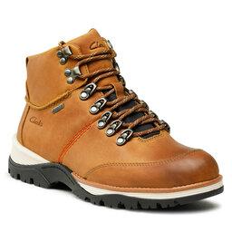 Clarks Turistiniai batai Clarks ToptonPine Gtx GORE-TEX Cognac Leather