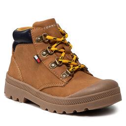 Tommy Hilfiger Ilgaauliai Tommy Hilfiger Mid Cut Lace-Up Shoe T1B4-32084-1269206 S Ochre 206