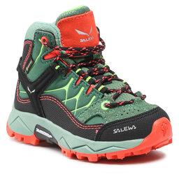 Salewa Трекінгові черевики Salewa Jr Alp Trainer MId Gtx GORE-TEX 5960 Myrtle/Tender Shot