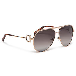 Salvatore Ferragamo Сонцезахисні окуляри Salvatore Ferragamo SF237S Rose Gold/Grey