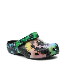 Crocs Шльопанці Crocs Classic Tie Dye Graphic Clog 205453 Multi Black/Black