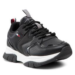 Tommy Hilfiger Laisvalaikio batai Tommy Hilfiger Low Cut Lace-Up Sneaker T3A4-31177-0518999 M Black 999