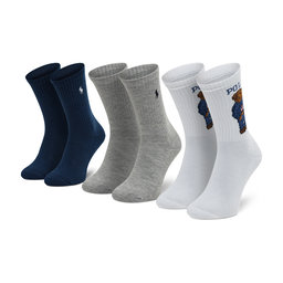 Polo Ralph Lauren Набір 3 пар високих жіночих шкарпеток Polo Ralph Lauren 455854092001 Whast