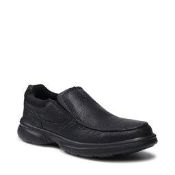 Clarks Pusbačiai Clarks Bradley Free 261531607 Blk Tumbled Leather