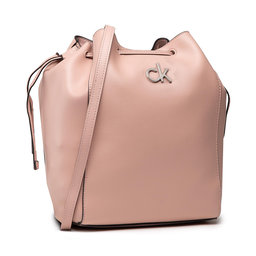 Calvin Klein Rankinė Calvin Klein Drawstring Bucket Bag K60K608176 Blush TCT
