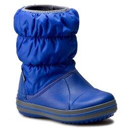 Crocs Sniego batai Crocs Winter Puff Boot Kids 14613 Cerulean Blue/Light Grey