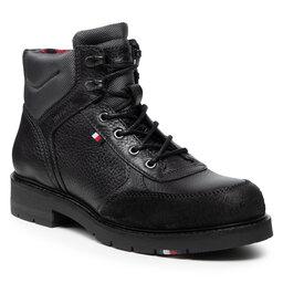 Tommy Hilfiger Auliniai batai Tommy Hilfiger Warm Classic Sneakers Cut FM0FM03818 Black BDS
