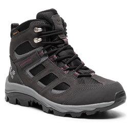 Jack Wolfskin Трекінгові черевики Jack Wolfskin Vojo 3 Texapore Mid W 4042471 Dark Steel/Purple