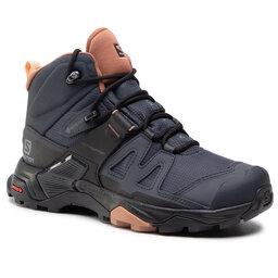 Salomon Трекінгові черевики Salomon X Ultra 4 Mid Gtx W GORE-TEX 412956 20 V0 Ebony/Mocha Mousse/Almond Creame