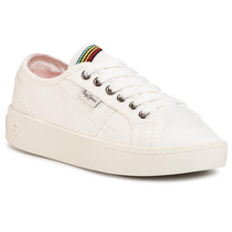 Pepe Jeans Снікерcи Pepe Jeans Brixton Canvas PGS30448 Off White 803