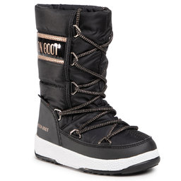 Moon Boot Снігоходи Moon Boot Jr G. Quilted Wp 34051400005 M Black/Copper