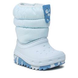 Crocs Sniego batai Crocs Classic Neo Puff Boot K 207275 Mineral Blue