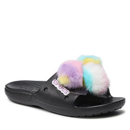 Crocs Шльопанці Crocs Classic Fur Sure Slide 207406 Black
