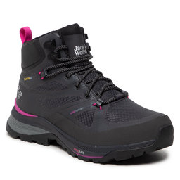 Jack Wolfskin Трекінгові черевики Jack Wolfskin Force Striker Texapore Mid W 4038871 Phantom/Pink