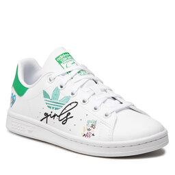 adidas Взуття adidas Stan Smith J GZ7384 Ftwwht/Ftwwht/Supcol