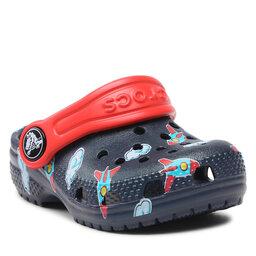 Crocs Šlepetės Crocs Classic Toddler Printed Clog Kids 207321 Navy