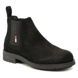 Tommy Jeans Štibletai Tommy Jeans Classic Tommy Jeans Chelsea Boot EM0EM00826 Black BDS