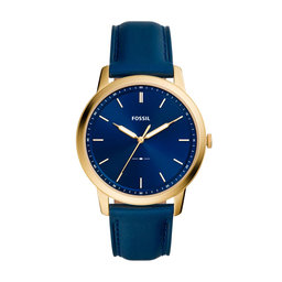Fossil Годинник Fossil The Minimalist 3H FS5789 Navy/Gold
