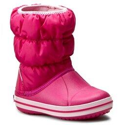 Crocs Снігоходи Crocs Winter Puff Boot Kids 14613 Candy Pink