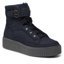 Tommy Hilfiger Aulinukai Tommy Hilfiger Warmlined Lace Up Boot FW0FW05991 Desert Sky DW5