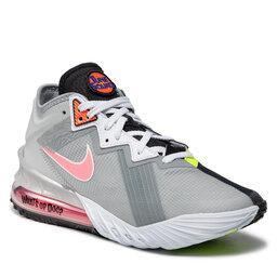 Nike Batai Nike Lebron XVIII Low CV7562 005 Lt Smoke Grey/Sunset Pulse