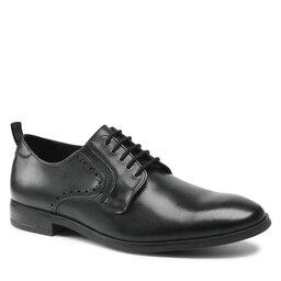 Clarks Pusbačiai Clarks Stanford Lace 261612557 Black Leather