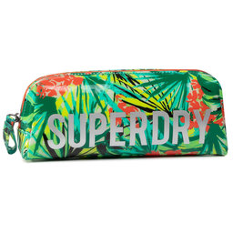 Superdry Пенал Superdry Jelly Pencil Case W9810025A Green Tropical