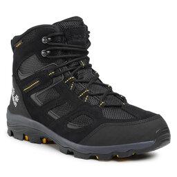 Jack Wolfskin Трекінгові черевики Jack Wolfskin Vojo 3 Wt Texapore Mid M 4042461 Black/Burly Yellow XT