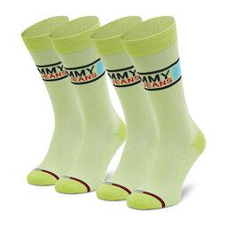 Tommy Jeans Vyriškų ilgų kojinių komplektas (2 poros) Tommy Jeans 100000398 Lime 008