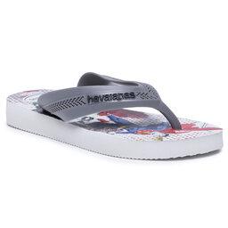 Havaianas В'єтнамки Havaianas Kids Max Herois Fc 41303027852 White/Steel Grey