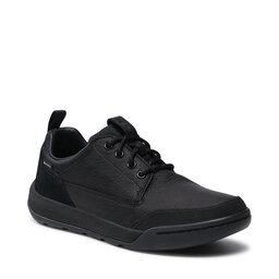 Clarks Pusbačiai Clarks Ashombelo Gtx GORE-TEX 261520757 Black Leather