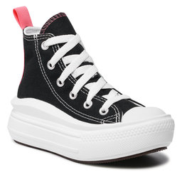 Converse Sportbačiai Converse Ctas Move Hi 371527C Black/Pink Salt/White