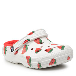Crocs Шльопанці Crocs Classic Lined Vacay Vibes 207301 White Strawberry