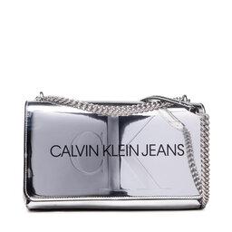 Calvin Klein Jeans Rankinė Calvin Klein Jeans Sculpted Conv E/W Flap Silver B K60K608842 01P