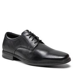 Clarks Pusbačiai Clarks Howard Walk 261612857 Black Leather
