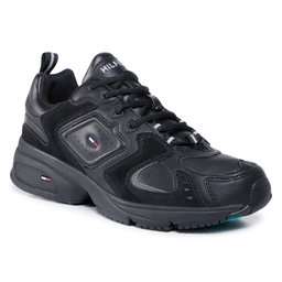 Tommy Jeans Laisvalaikio batai Tommy Jeans Heritage Seasonal Sneaker EM0EM00587 Black BDS