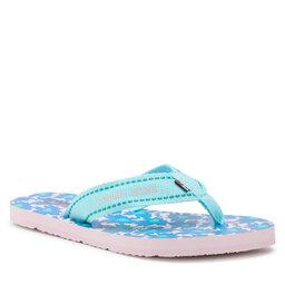 Tommy Jeans Šlepetės per pirštą Tommy Jeans Tommy Webbing Flat Beach Sandal EN0EN01428 Light Chlorine Blue CSW