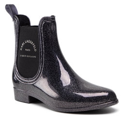 KARL LAGERFELD Guminiai batai KARL LAGERFELD KL94770 Dark Silver Rubber