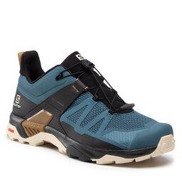 Salomon Трекінгові черевики Salomon X Ultra 4 414530 Mallard Blue/Bleached Sand/Bronze Brown