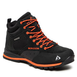 Bergson Трекінгові черевики Bergson Soira Mid Stx Black/Orange