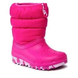 Crocs Снігоходи Crocs Classic Neo Puff Boot K 207275 Candy Pink