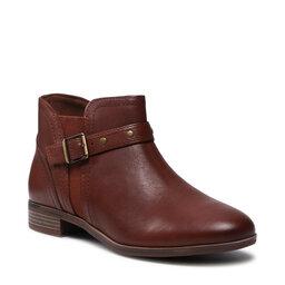 Clarks Aulinukai Clarks Trish Strap 261636144 Dark Tan Leather