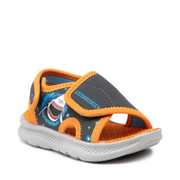 Skechers Босоніжки Skechers Sand Scout 406500N/CCOR Charcoal/Orange