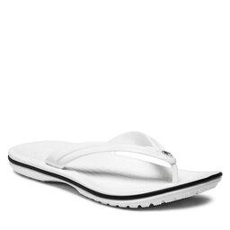 Crocs Šlepetės per pirštą Crocs Crocband Flip 11033 White